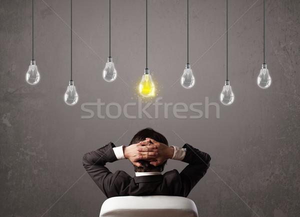 Vent idee heldere business hersenen Stockfoto © ra2studio