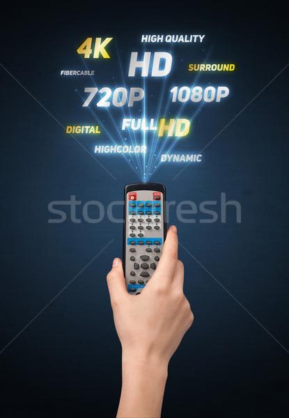 Mano control remoto multimedia fuera tecnología Foto stock © ra2studio