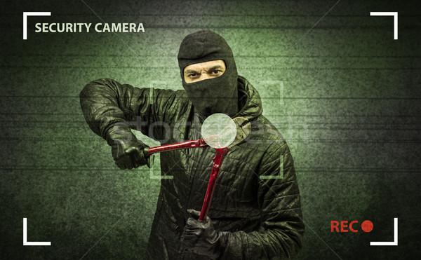 Burglar in action. Stock photo © ra2studio
