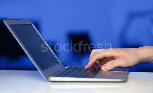 ビジネスマン 現代 ラップトップコンピュータ カラフル オフィス ストックフォト © ra2studio