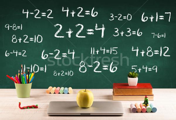 学校 黒板 図書 フル ストックフォト © ra2studio