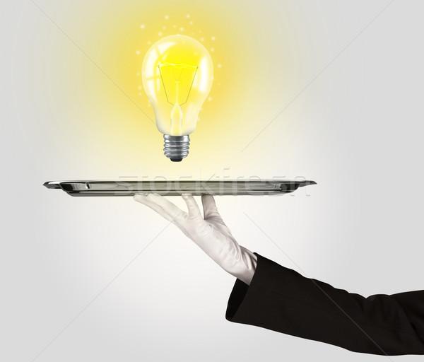 умный Идея лампа лоток ярко Сток-фото © ra2studio