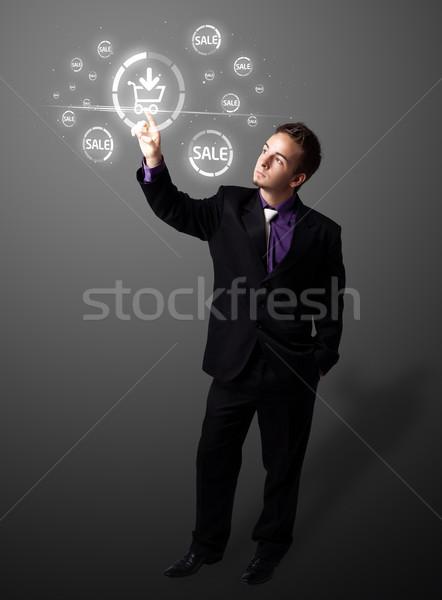 бизнесмен поощрения судоходства тип современных Сток-фото © ra2studio