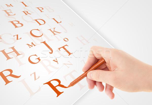 Strony piśmie różny litery biały papieru Zdjęcia stock © ra2studio