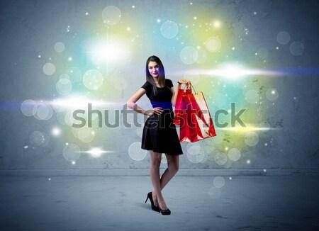 Mall Lady блеск свет красивой Сток-фото © ra2studio