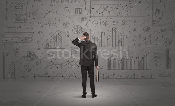 Satıcı iş duvar başarılı işadamı Stok fotoğraf © ra2studio