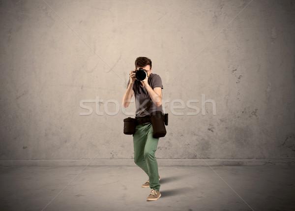 фотограф камеры профессиональных мужчины Сток-фото © ra2studio