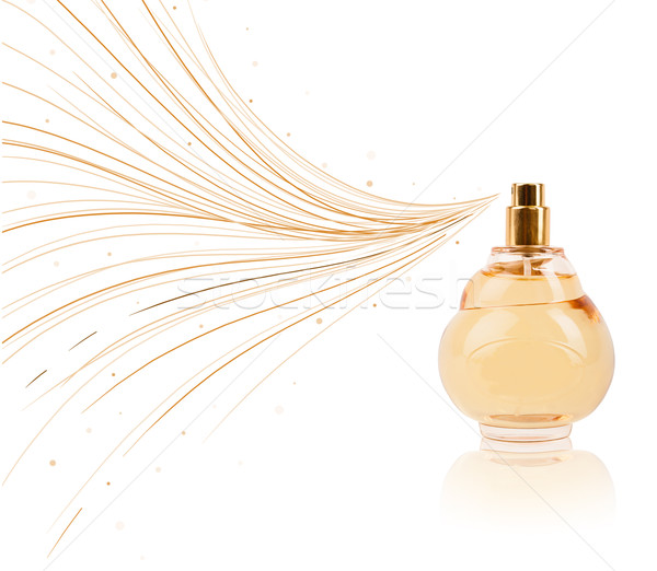 Stock fotó: Parfüm · üveg · színes · vonalak · színes · ajándék