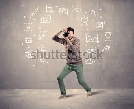 смешные парень человек Сток-фото © ra2studio