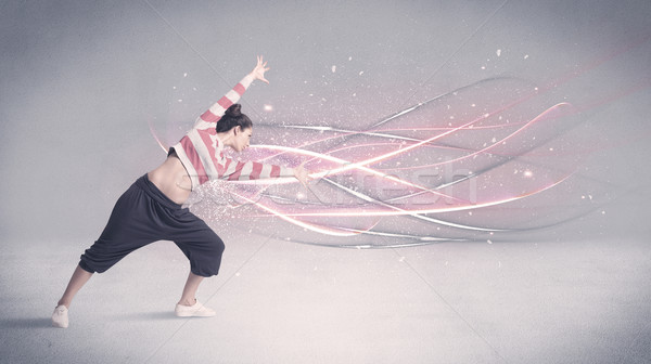 Funky urbanas bailarín líneas bastante Foto stock © ra2studio
