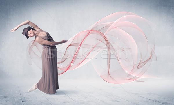 Dans bale performans sanatçı soyut girdap Stok fotoğraf © ra2studio