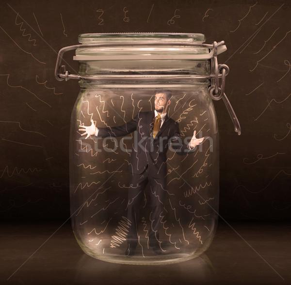 Imprenditore jar potente linee Foto d'archivio © ra2studio