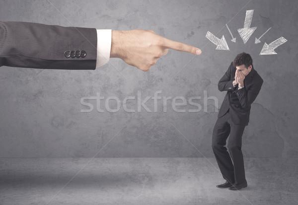 Amator biznesmen ciśnienie biuro szef młodych Zdjęcia stock © ra2studio