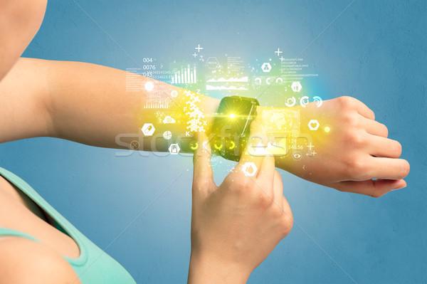 Medical tracker with smartwatch. Stock photo © ra2studio