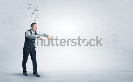 Young man gesturing with copy space Stock photo © ra2studio
