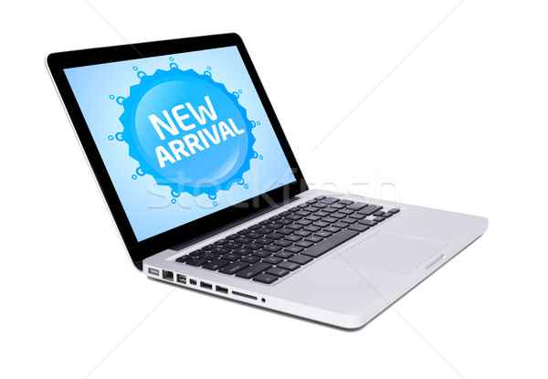 new laptop with new arrival sign Stock photo © ra2studio