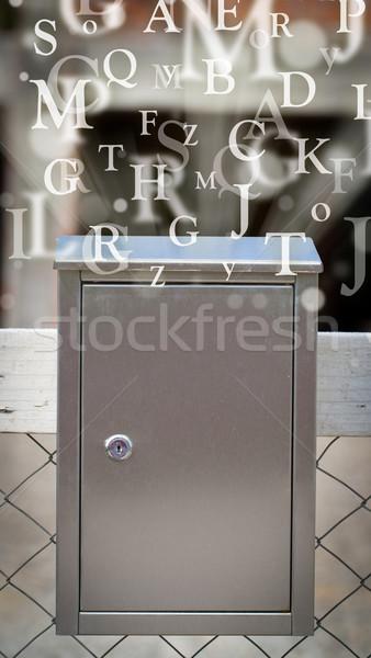 Stok fotoğraf: Posta · kutusu · harfler · dışarı · sokak · kâğıt · kitap