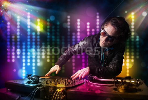 Oynama disko ışık göstermek genç parti Stok fotoğraf © ra2studio