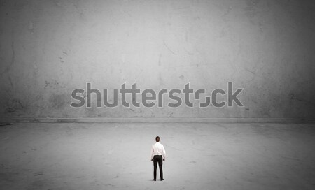 Small business person in large empty space Stock photo © ra2studio