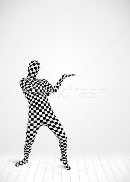 Anonim adam ürün takım elbise Stok fotoğraf © ra2studio