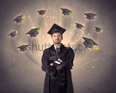 大学 大学院 多くの 飛行 グランジ ストックフォト © ra2studio