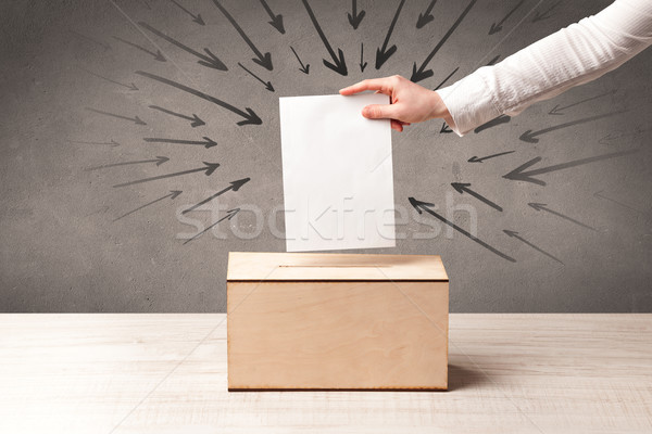 close up of a ballot box and casting vote Stock photo © ra2studio