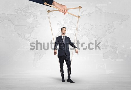 Businessman trying to suicide with pointing hands concept Stock photo © ra2studio
