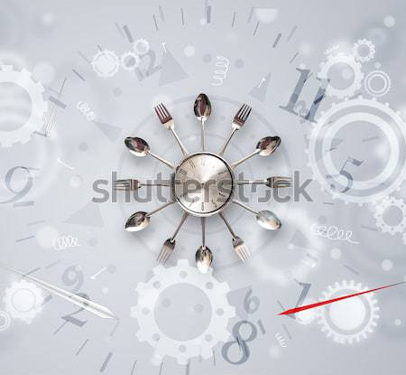 Modern clock with numbers comming out Stock photo © ra2studio