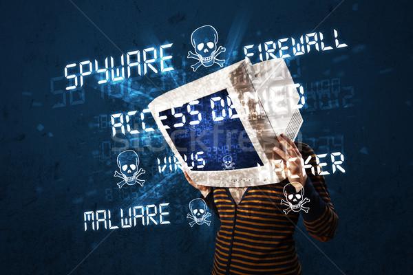 контроля голову человек хакер тип признаков Сток-фото © ra2studio