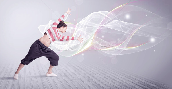 Kentsel dans beyaz hatları güzel Stok fotoğraf © ra2studio