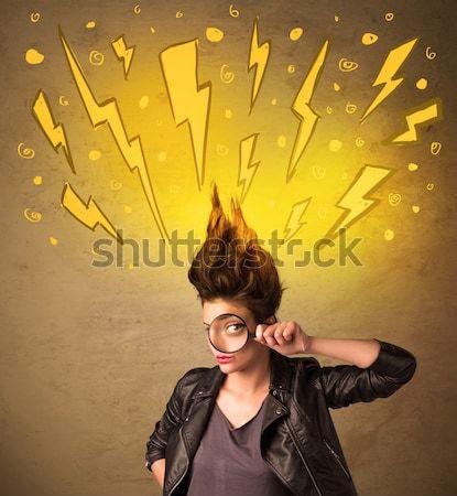 Energetische Mädchen sexy Licht Stock foto © ra2studio