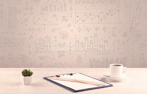 графа дизайнера белый Сток-фото © ra2studio