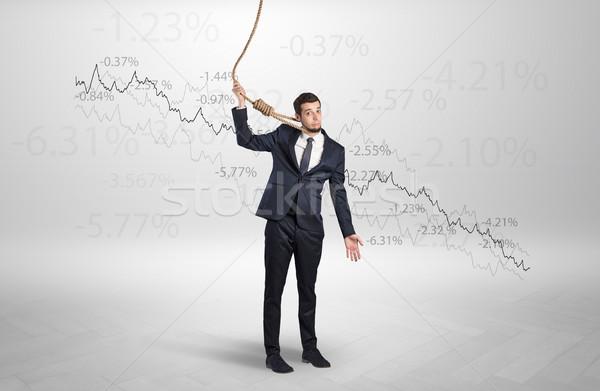 Kétségbeesett üzletember veszteség fiatal arc öltöny Stock fotó © ra2studio