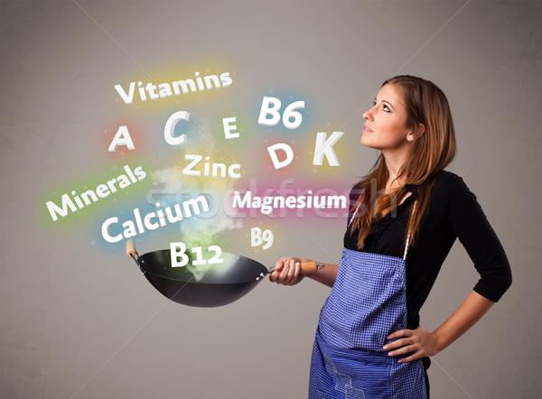 Cocina vitaminas minerales bastante alimentos Foto stock © ra2studio