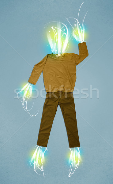 エネルギー ビーム カジュアル 服 光 ビジネス ストックフォト © ra2studio