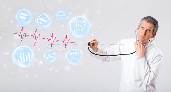 Médecin modernes pulsation graphiques clinique médicaux Photo stock © ra2studio