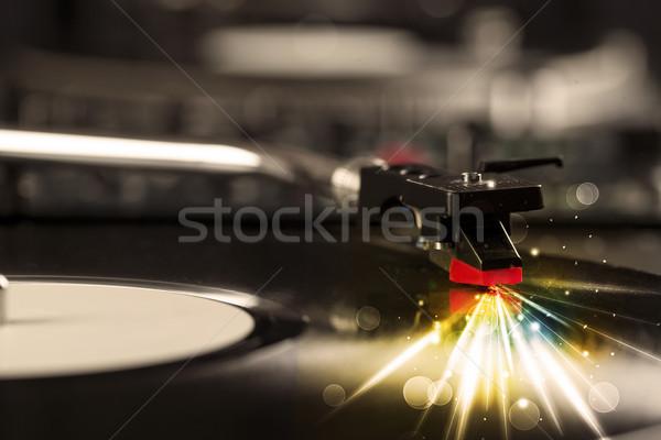 Giocare vinile bagliore linee bisogno Foto d'archivio © ra2studio