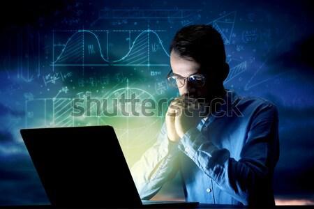 Stok fotoğraf: Hırsız · veritabanı · ağ · karanlık · bulut