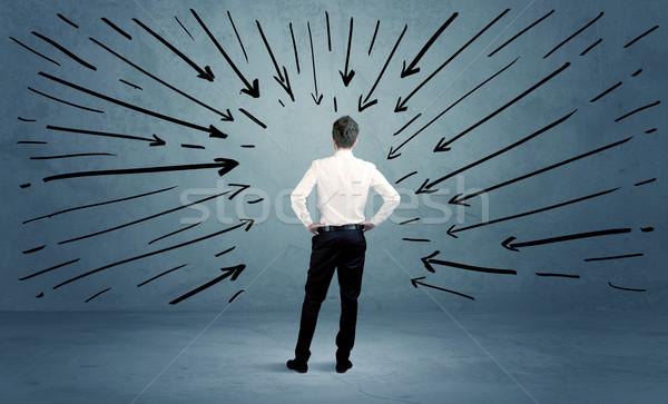 áll üzlet férfi hiba zavart üzletember Stock fotó © ra2studio