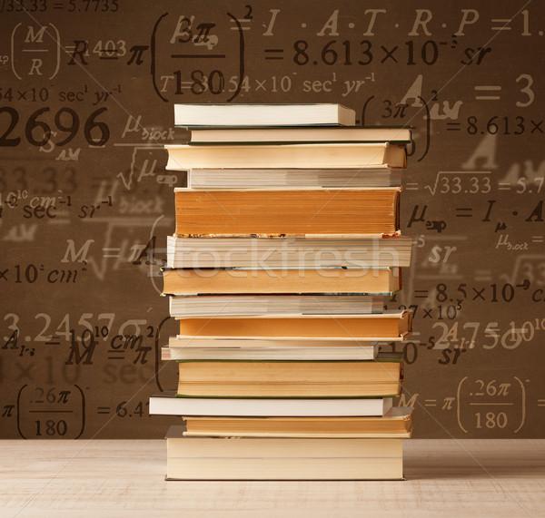 книгах Vintage Math Flying из Сток-фото © ra2studio