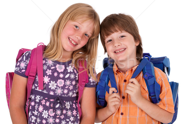 kids posing for back to school Stock photo © ra2studio