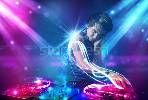 エネルギッシュな 音楽 パワフル ライト効果 小さな パーティ ストックフォト © ra2studio