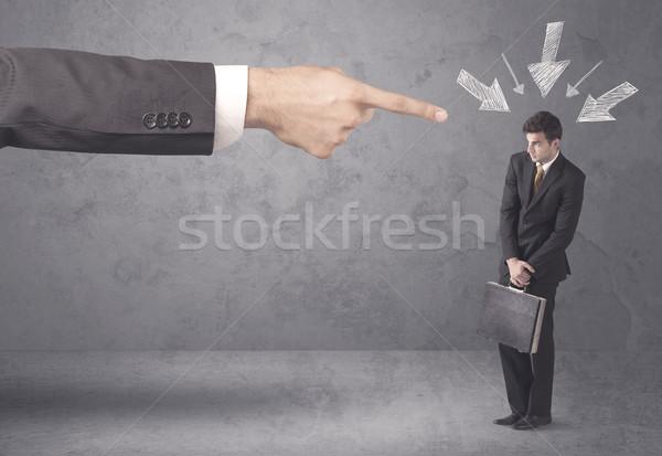 Amateur businessman under pressure Stock photo © ra2studio