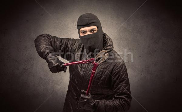 Hırsız araç ayakta siyah elbise el Stok fotoğraf © ra2studio