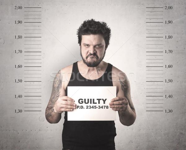 Gangster carcere colpevole uomo segni Foto d'archivio © ra2studio