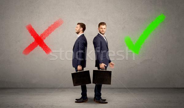 бизнесмен два молодые право Сток-фото © ra2studio