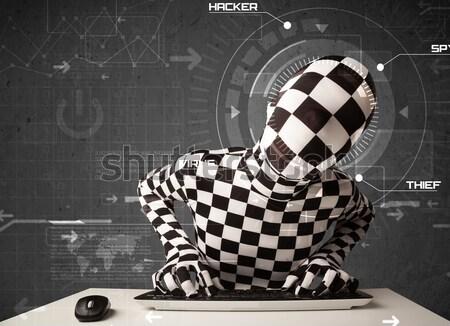Identidad futurista piratería personal información Foto stock © ra2studio