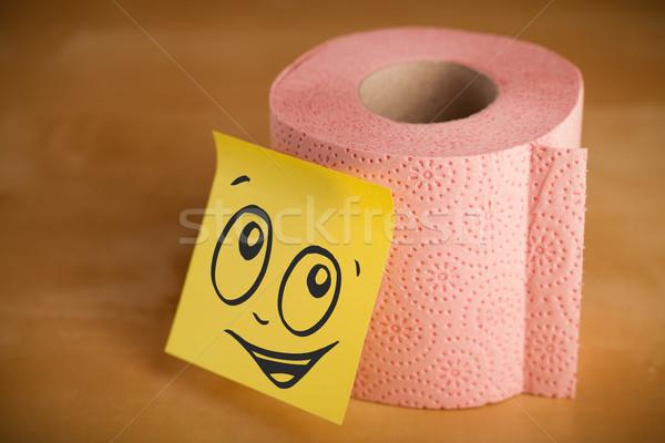 Nota carta igienica carta faccia Foto d'archivio © ra2studio