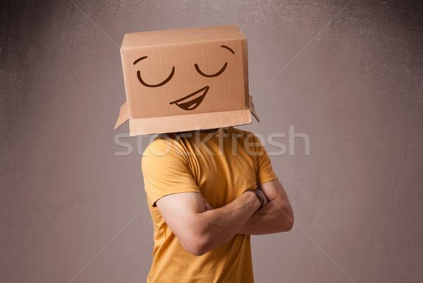 若い男 頭 スマイリー 立って ストックフォト © ra2studio
