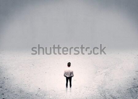 Stock fotó: üzletember · áll · városi · üres · hely · felnőtt · elegáns